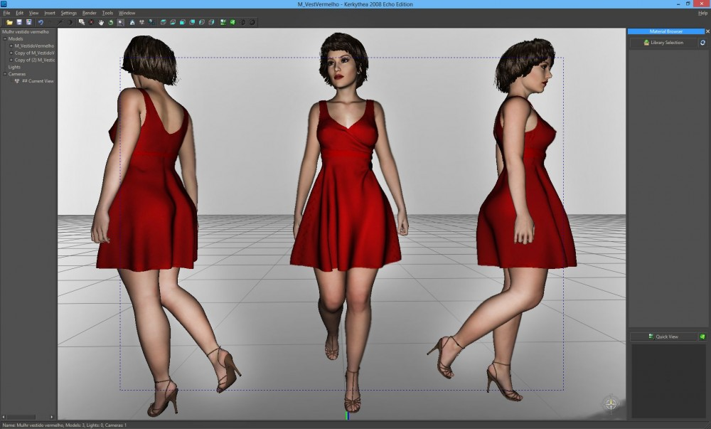 mulher vestido vermelho 2