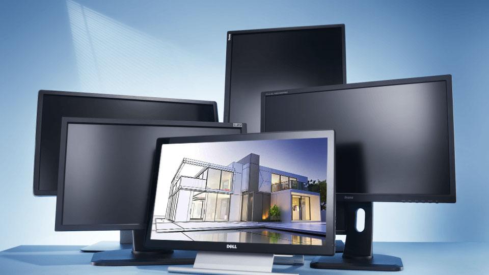 Monitores para Maquete Eletrônica de Arquitetura